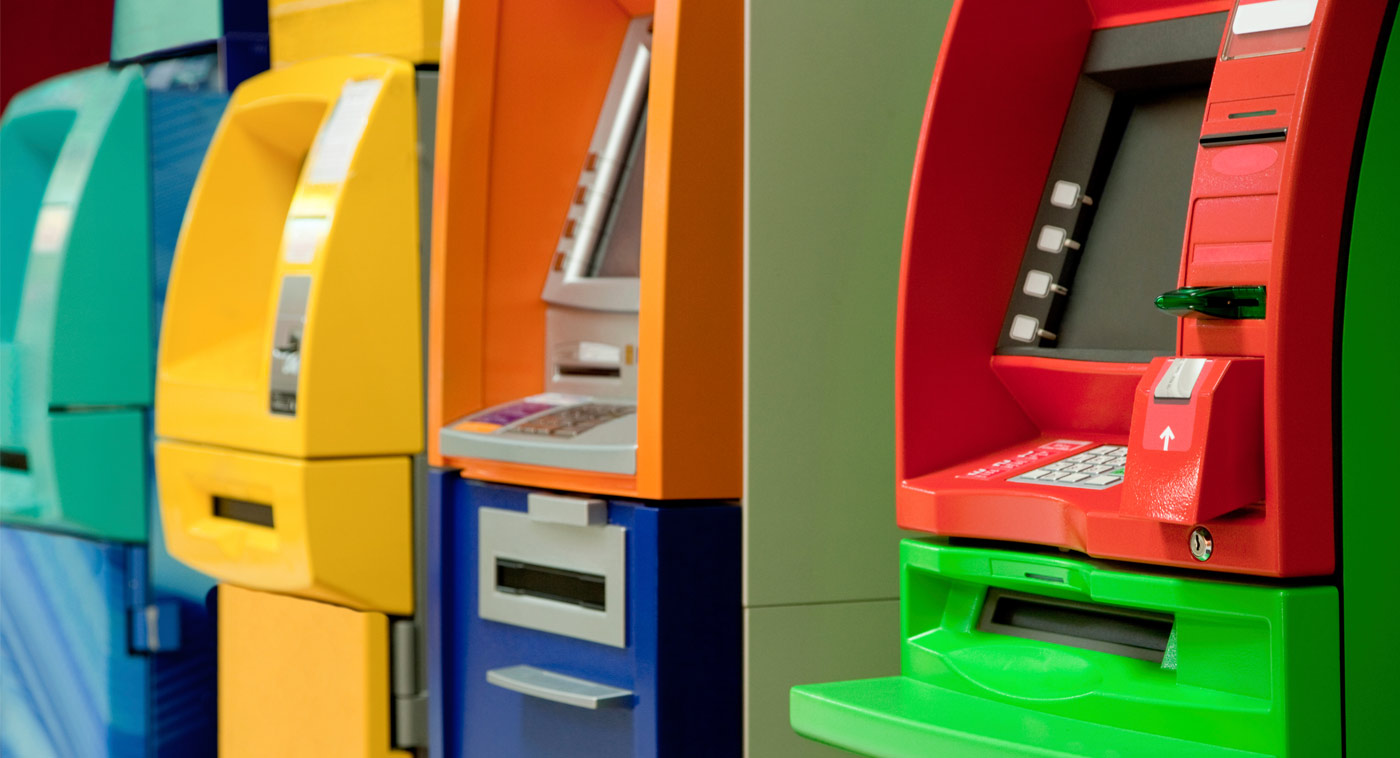 Colourful remanufactured service machines for sale for the ATM industry